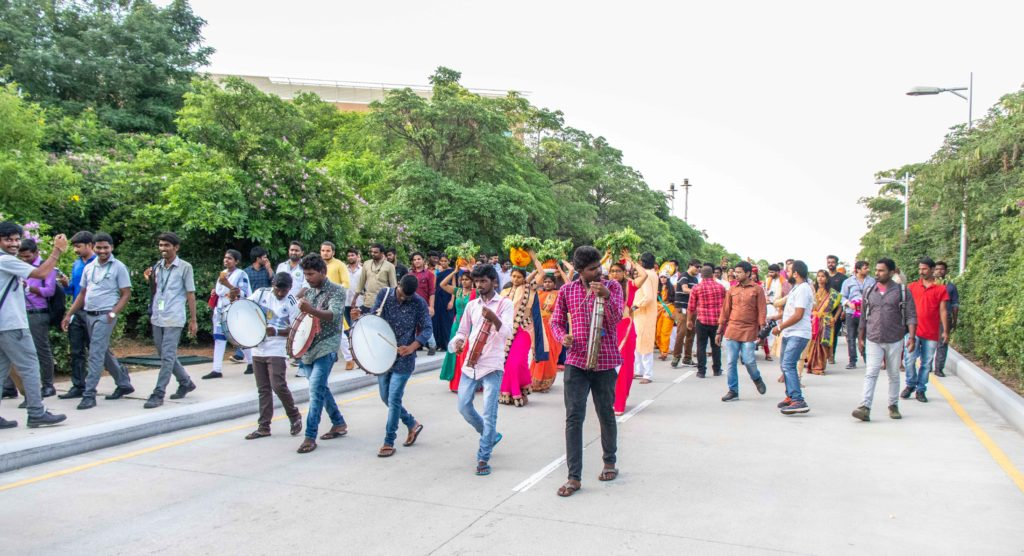 Celebrations at infosys sez hyderabad campus
