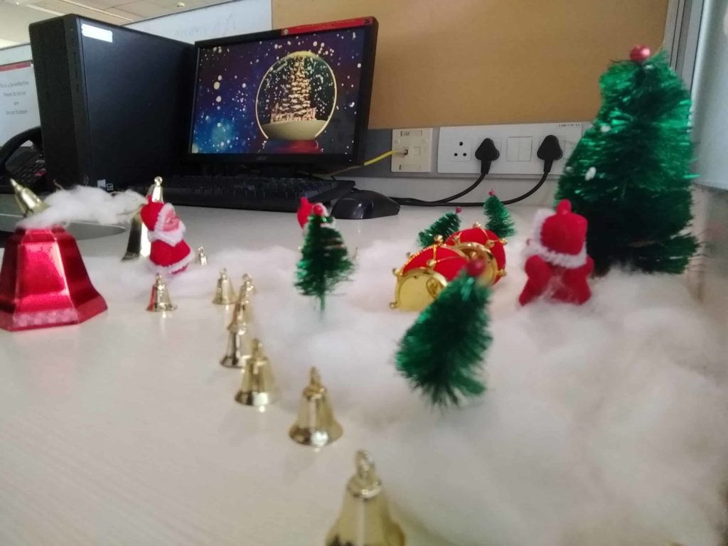 Christmas at infosys sez hyderabad
