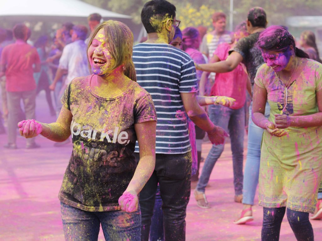 Holi Celebration at infosys sez hyd campus