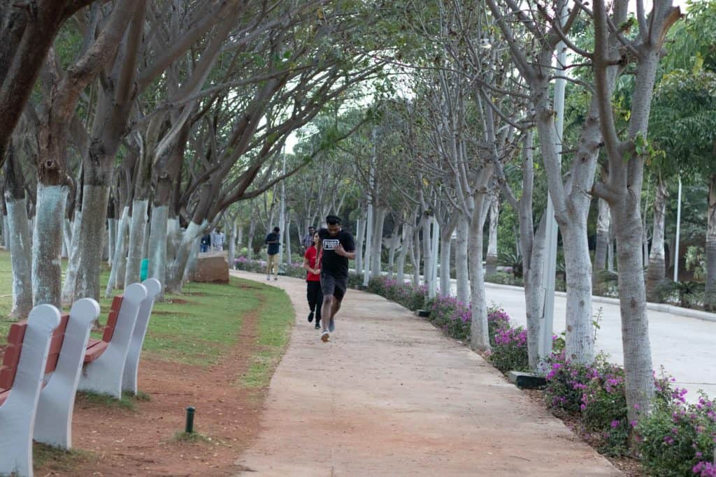 Jogging Track around cricket ground at infy hyd sez campus