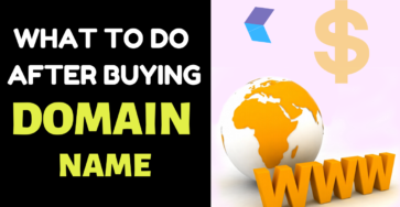 What to do after buying Domain Name