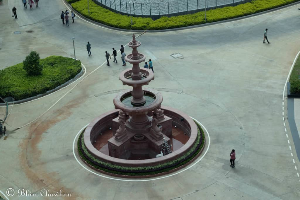 infosys hyderabad campus phase 2 fountain