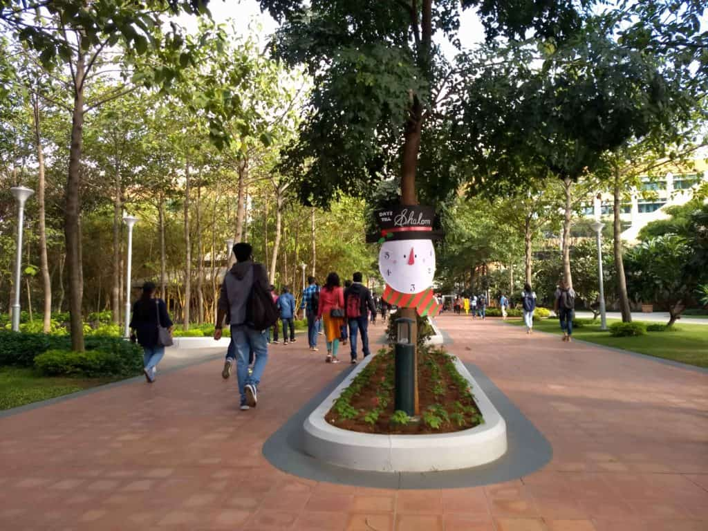 infosys hyderabad sez campus photos festival countandown