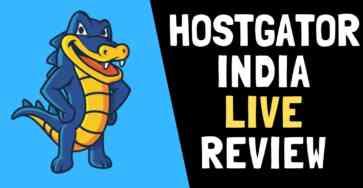 HOSTGATOR INDIA LIVE REVIEW